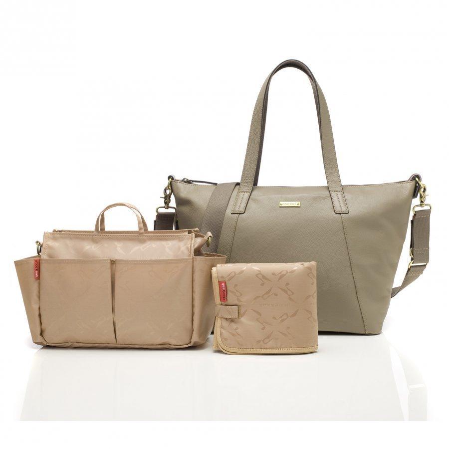 Storksak Noa Changing Bag Leather Clay Hoitolaukku
