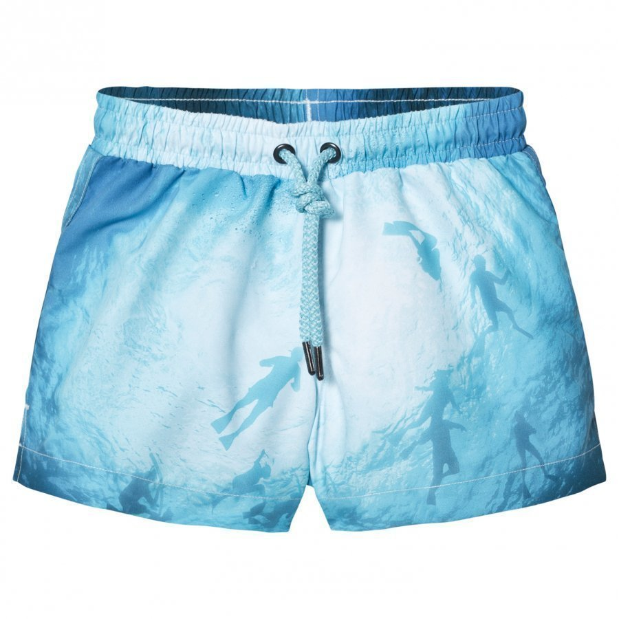 Sunuva Blue Photographic Diver Swim Shorts Uimahousut