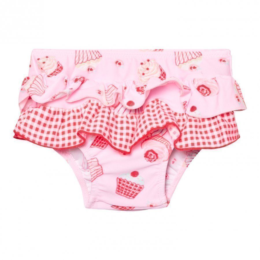 Sunuva Infants Pink Mini Cupcake Frill Nappy Pants Uimavaippa
