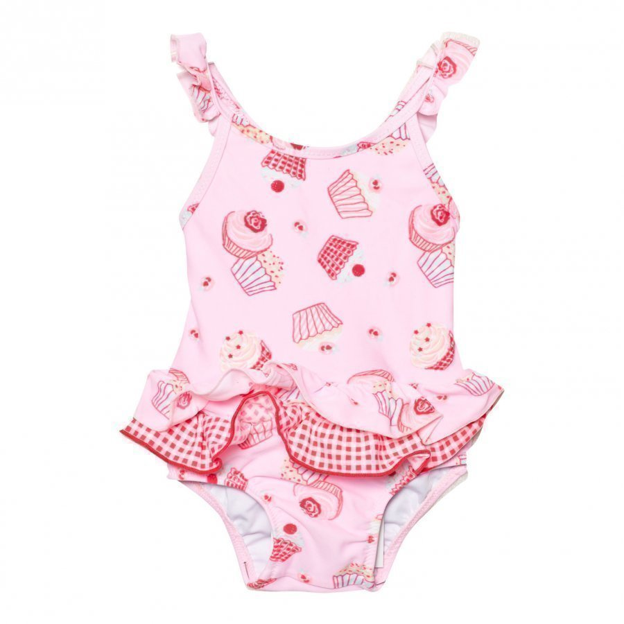 Sunuva Infants Pink Mini Cupcake Frill Swimsuit Uimapuku