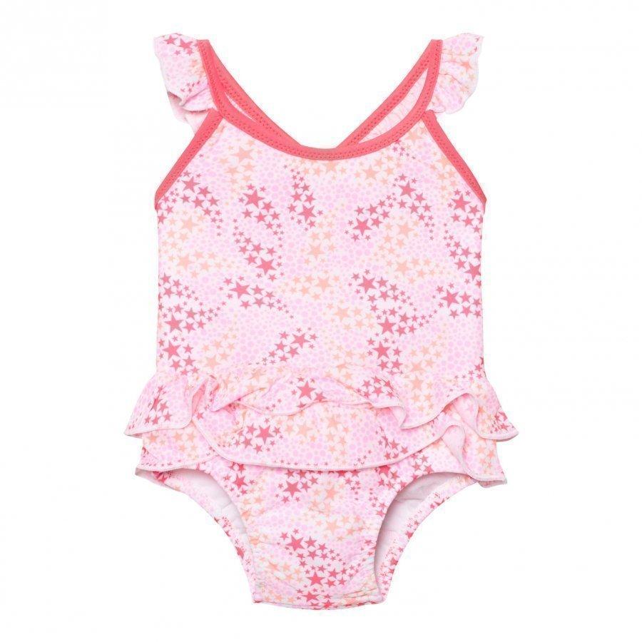 Sunuva Infants Pink Pop Star Frill Swimsuit Uimapuku