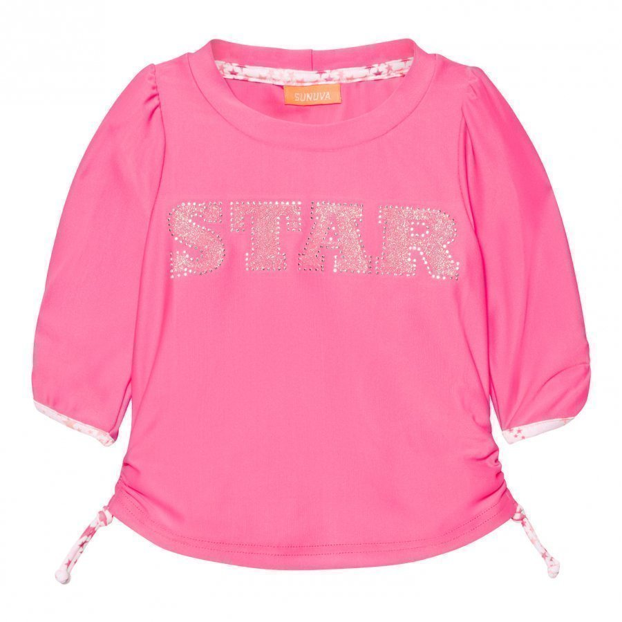 Sunuva Infants Pink Pop Star Rash Vest Uv-Paita