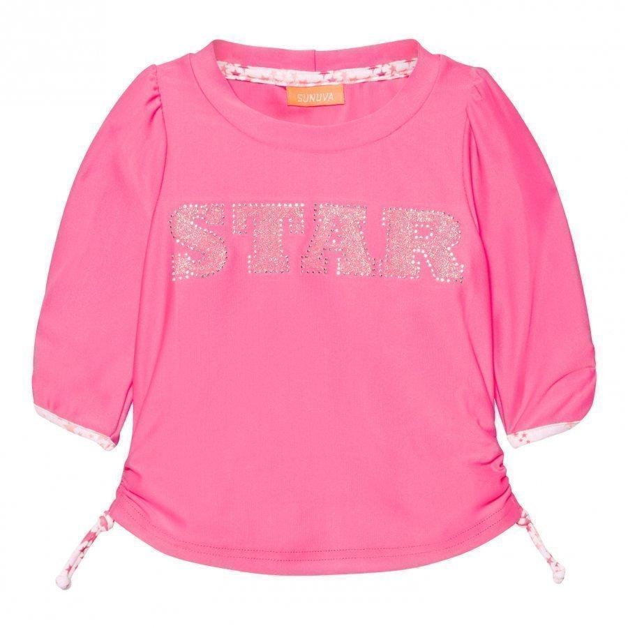 Sunuva Infants Pink Pop Star Rash Vest Uv-Paita