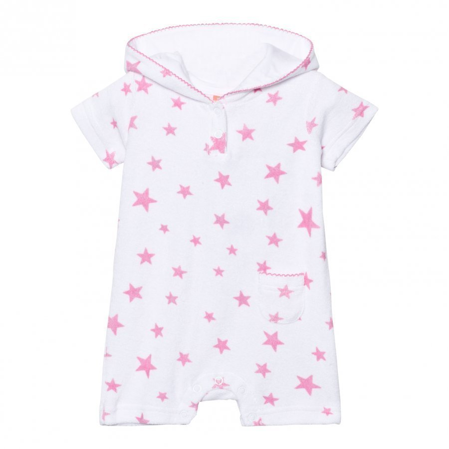 Sunuva Infants White And Pink Pop Star Towelling Onesie Kylpytakki