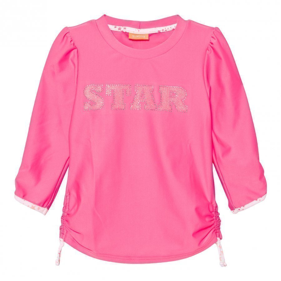 Sunuva Pink Pop Star Rash Vest Uv-Paita