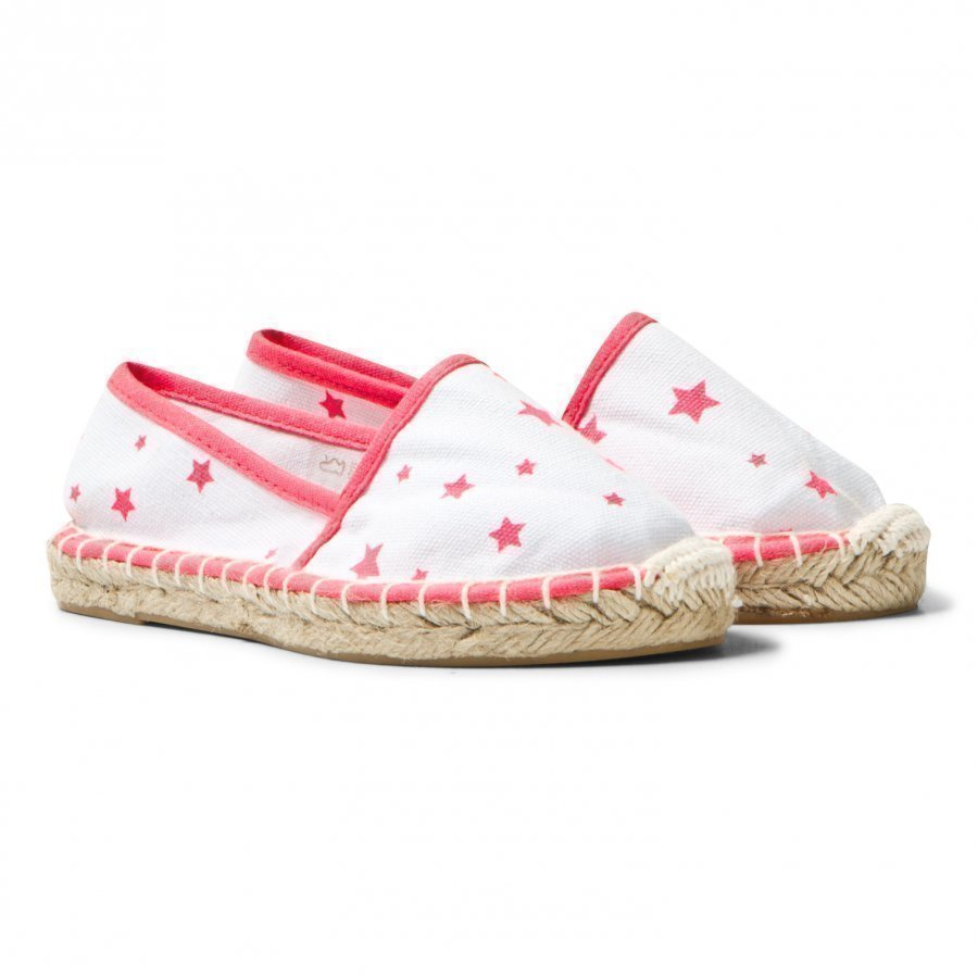 Sunuva White And Pink Pop Star Espadrilles Espadrillot
