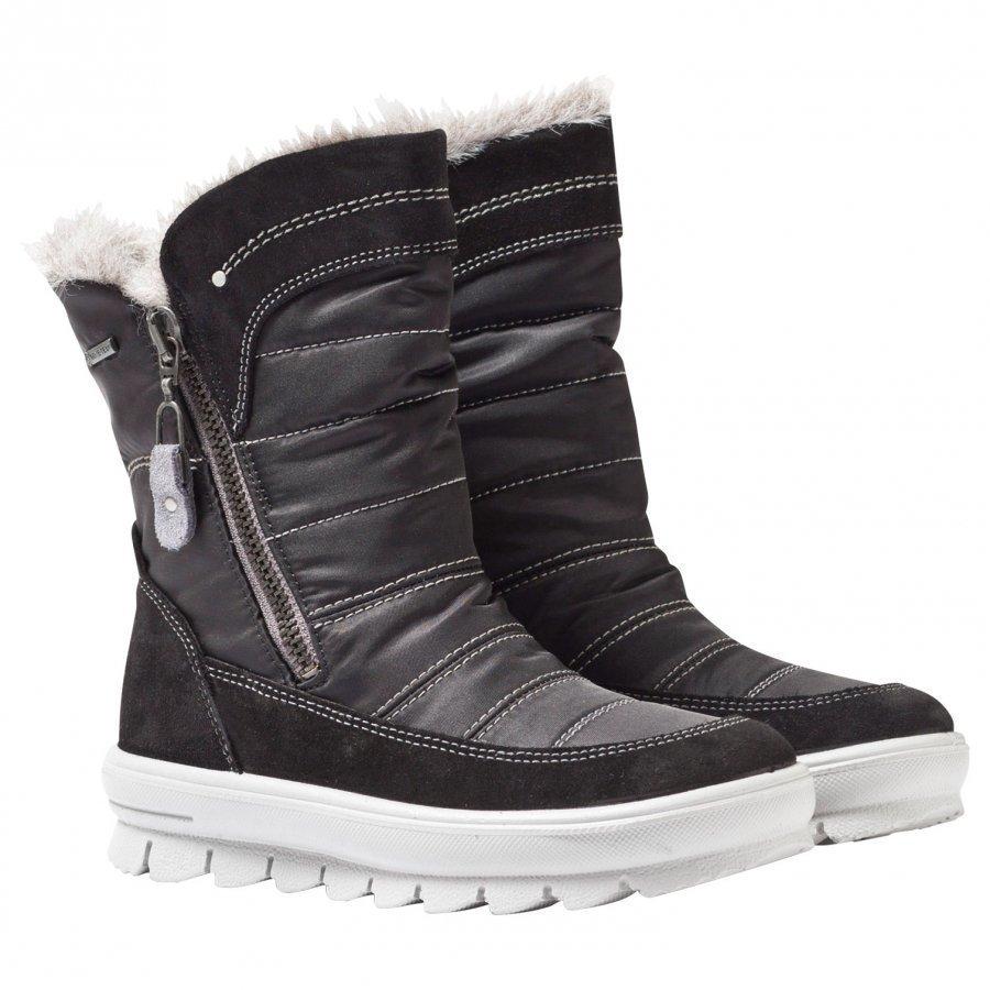 Superfit Flavia Boots Black Korkeavartiset Saappaat