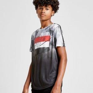 Supply & Demand Geometric Fade T-Shirt Harmaa