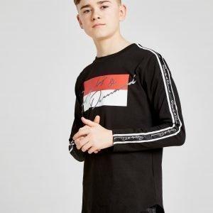 Supply & Demand Script Tape Long Sleeve T-Shirt Musta