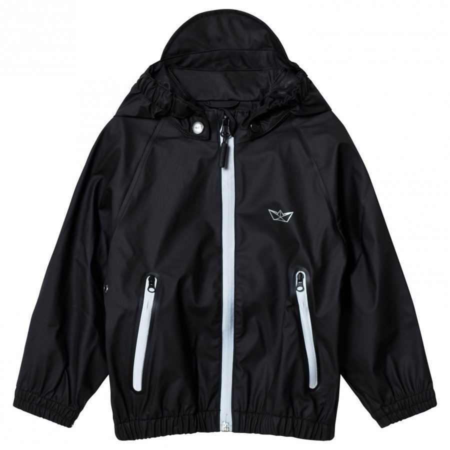 Sways Crew Jacket Black Sadetakki