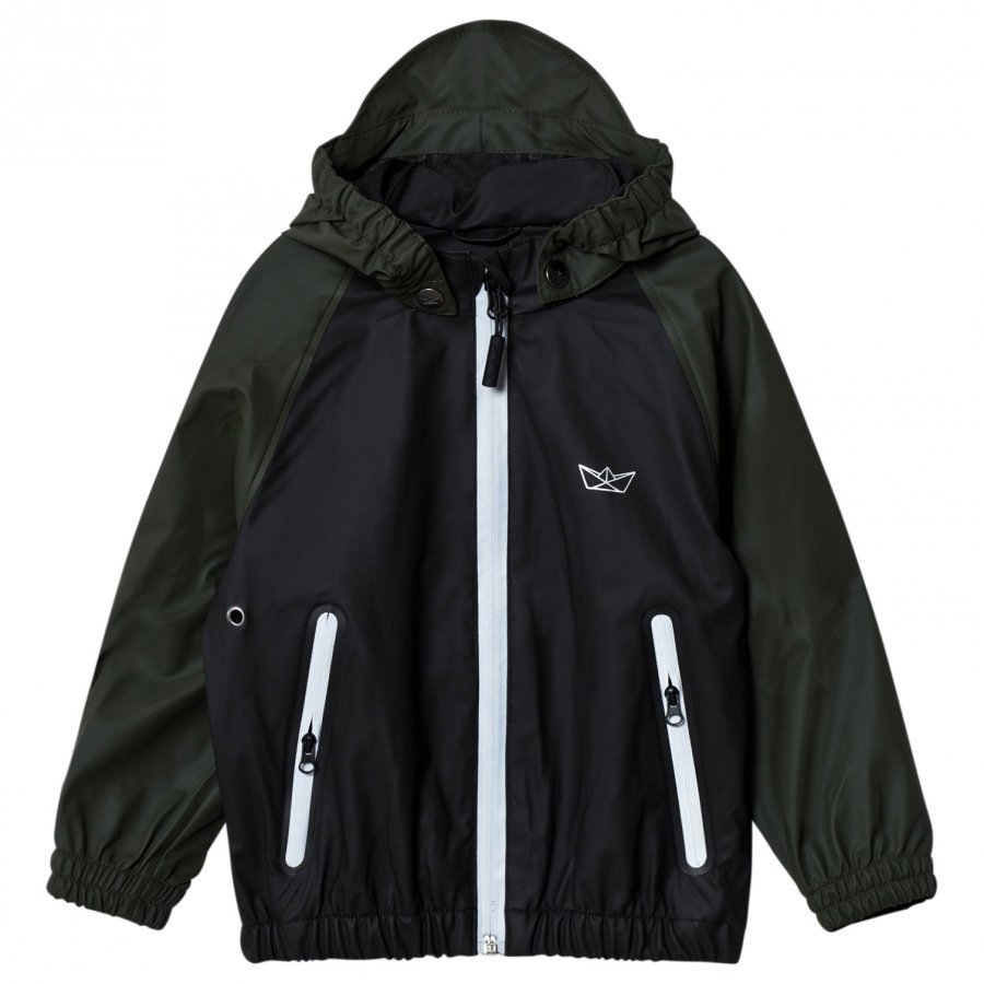 Sways Crew Jacket Black/Green Sadetakki