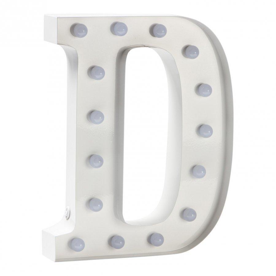 Sweetlights Letter D Mini Marquee Lights White Pöytävalaisin