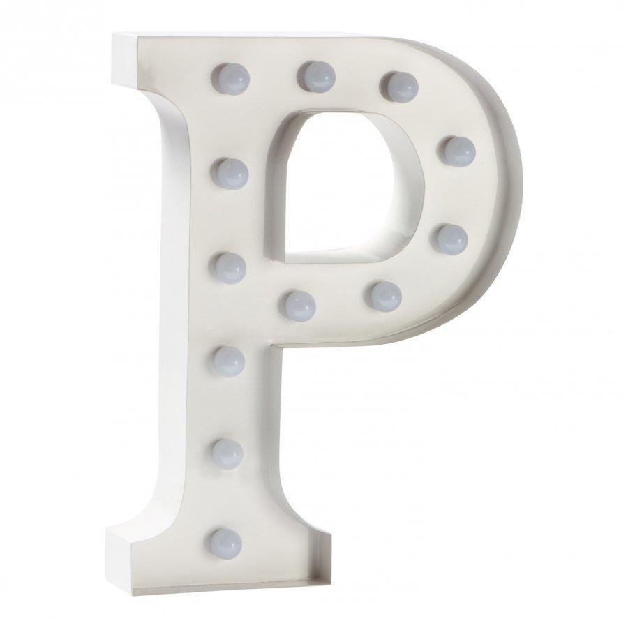 Sweetlights Letter P Mini Marquee Lights White Pöytävalaisin