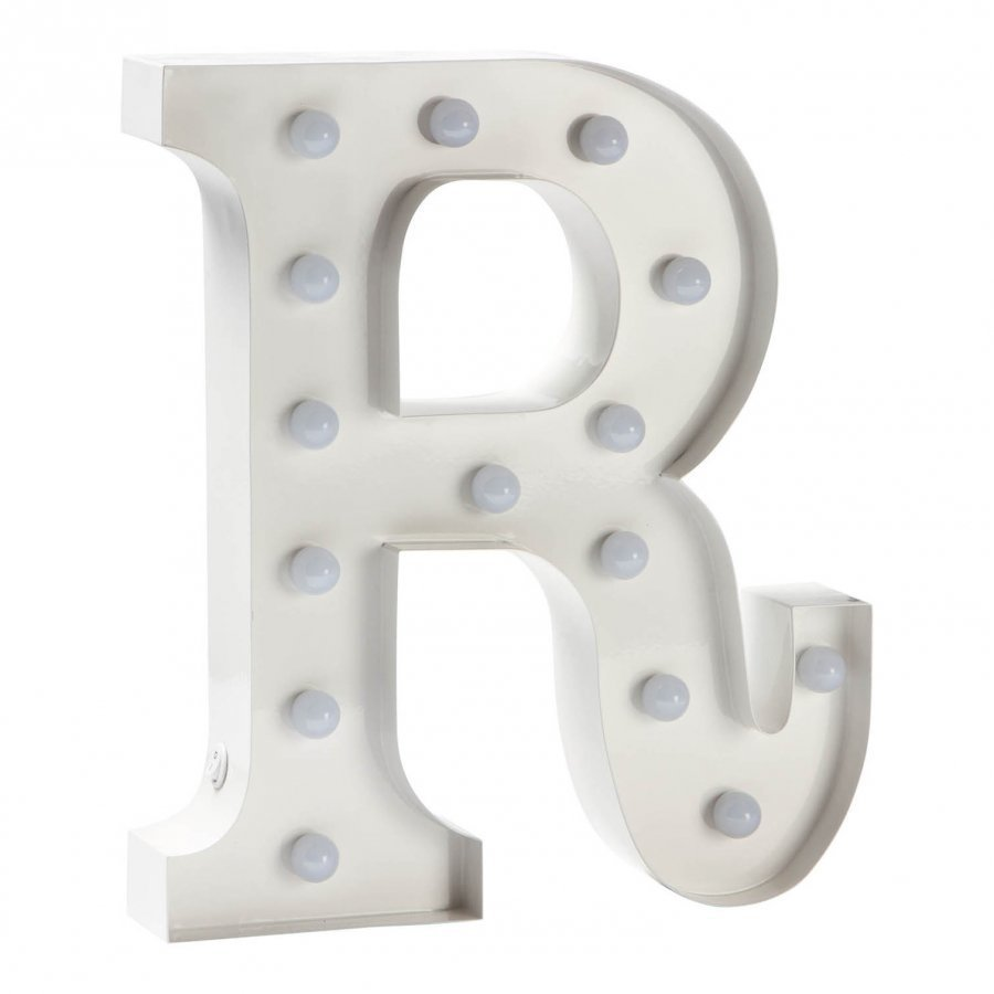 Sweetlights Letter R Mini Marquee Lights White Pöytävalaisin
