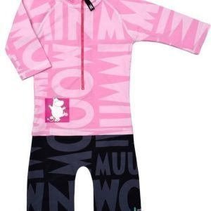 Swimpy UV-puku Muumi Pink/Black