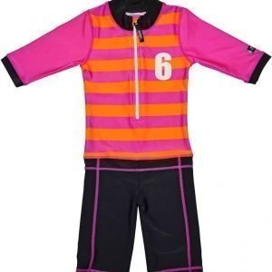 Swimpy UV-puku Sport Pink/Orange