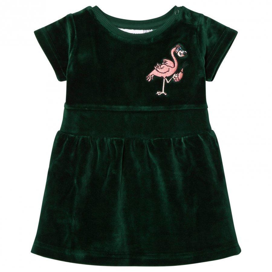 Tao & Friends Flamingon Mini Velvet Dress Green Mekko