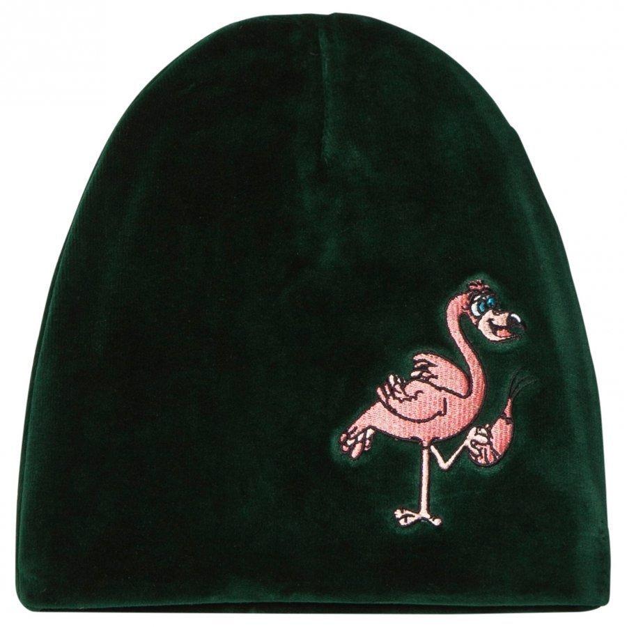 Tao & Friends Flamingon Velvet Beanie Green Pipo