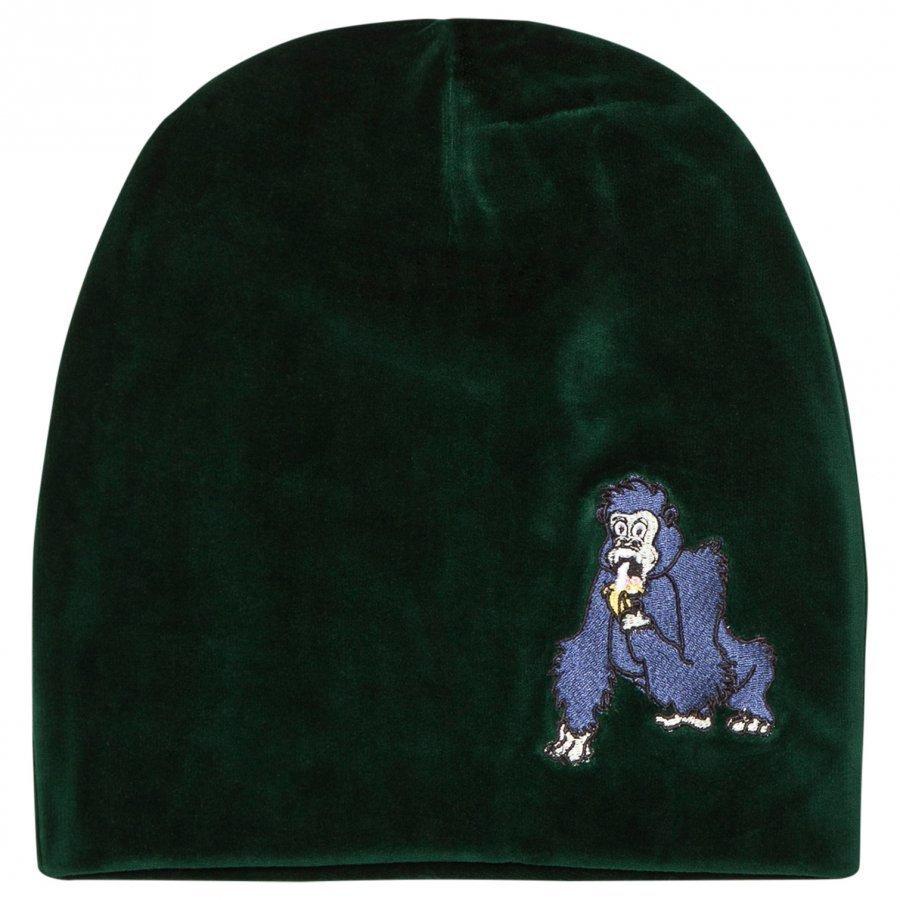 Tao & Friends Gorillan Velvet Beanie Green Pipo