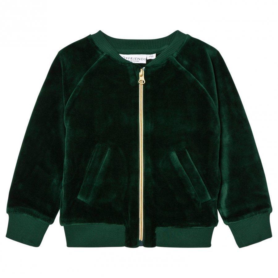 Tao & Friends Gorillan Velvet Bomber Jacket Green Bomber Takki