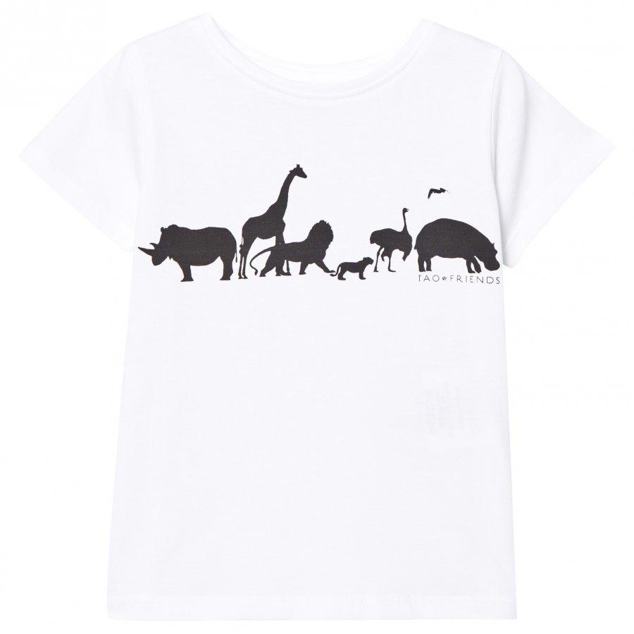 Tao & Friends Tee White With Black Logo T-Paita