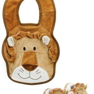Teddykompaniet Diinglisar Wild Vauvan tossut & ruokalappu Leijona