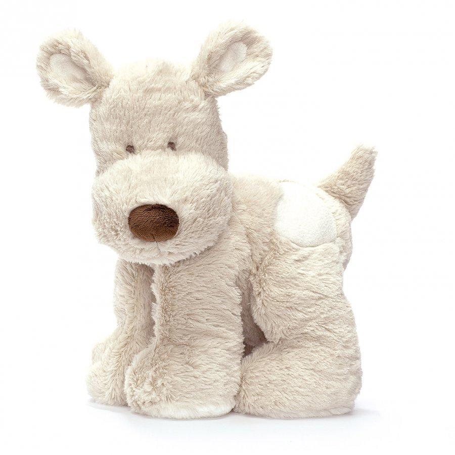 Teddykompaniet Teddy Cream Dog Large Grey Pehmolelu