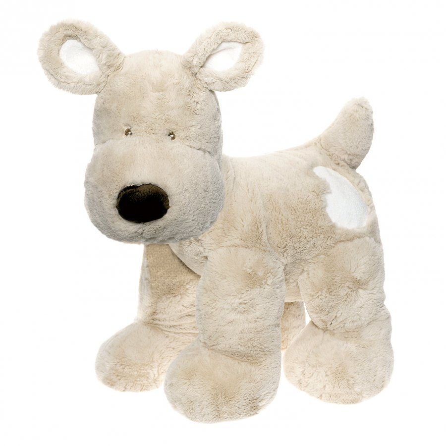 Teddykompaniet Teddy Cream Dog Xl Grey Pehmolelu