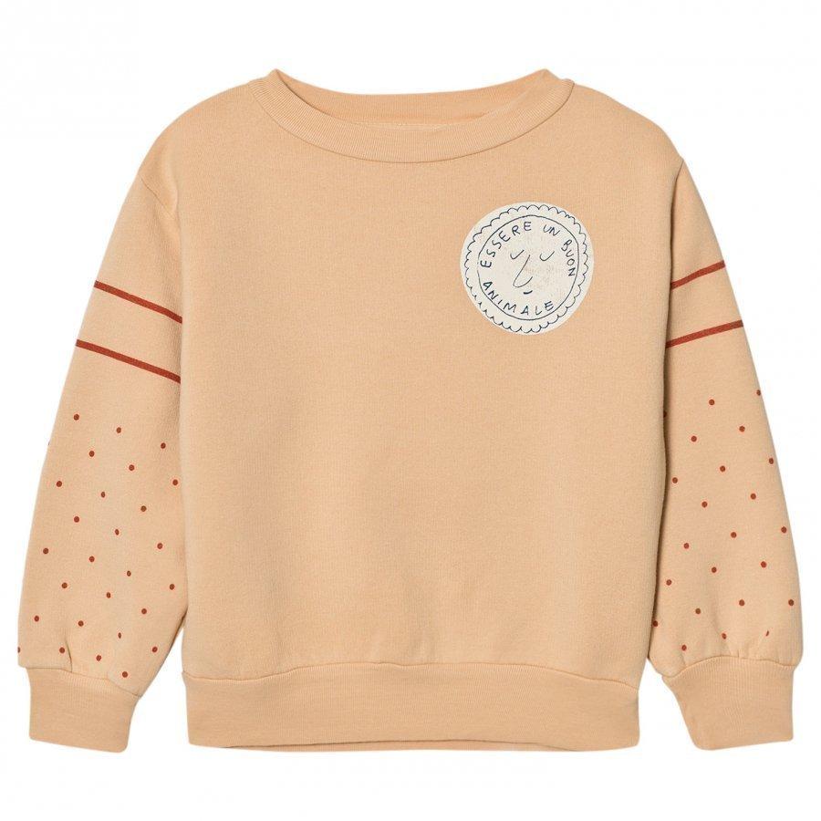 The Animals Observatory Bear Sweatshirt Cream Stamp Oloasun Paita