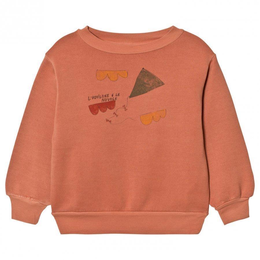 The Animals Observatory Bear Sweatshirt Deep Orange Kite Oloasun Paita