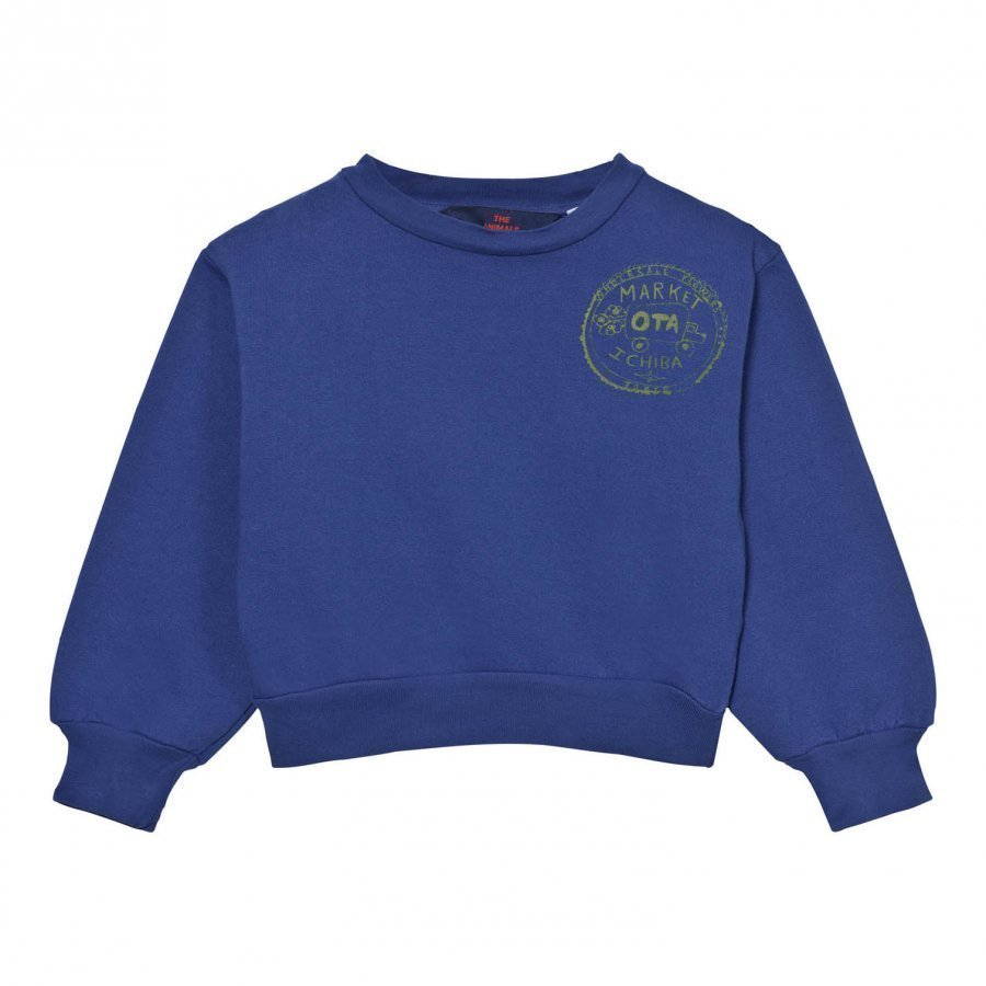The Animals Observatory Bear Sweatshirt Navy Blue Market Oloasun Paita