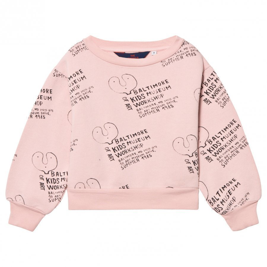 The Animals Observatory Bear Sweatshirt Pink Kids Museum Oloasun Paita