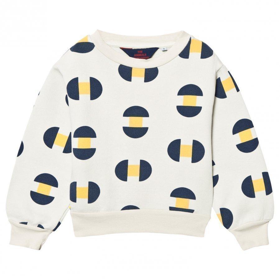 The Animals Observatory Bear Sweatshirt Raw White Geometric Oloasun Paita