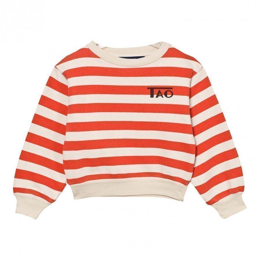 The Animals Observatory Bear Sweatshirt Raw White Stripes Oloasun Paita