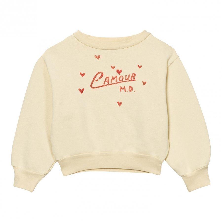 The Animals Observatory Bear Sweatshirt Soft Yellow L'amour Oloasun Paita