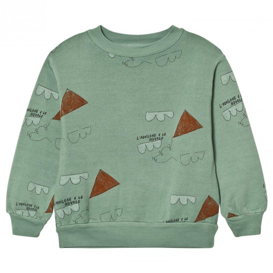 The Animals Observatory Bear Sweatshirt Turquoise Kites Oloasun Paita
