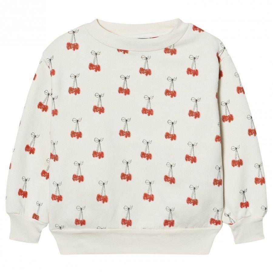 The Animals Observatory Bear Sweatshirt White Cherries Oloasun Paita