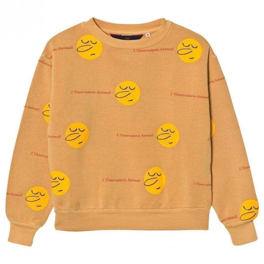 The Animals Observatory Bear Sweatshirt Yellow Faces Oloasun Paita