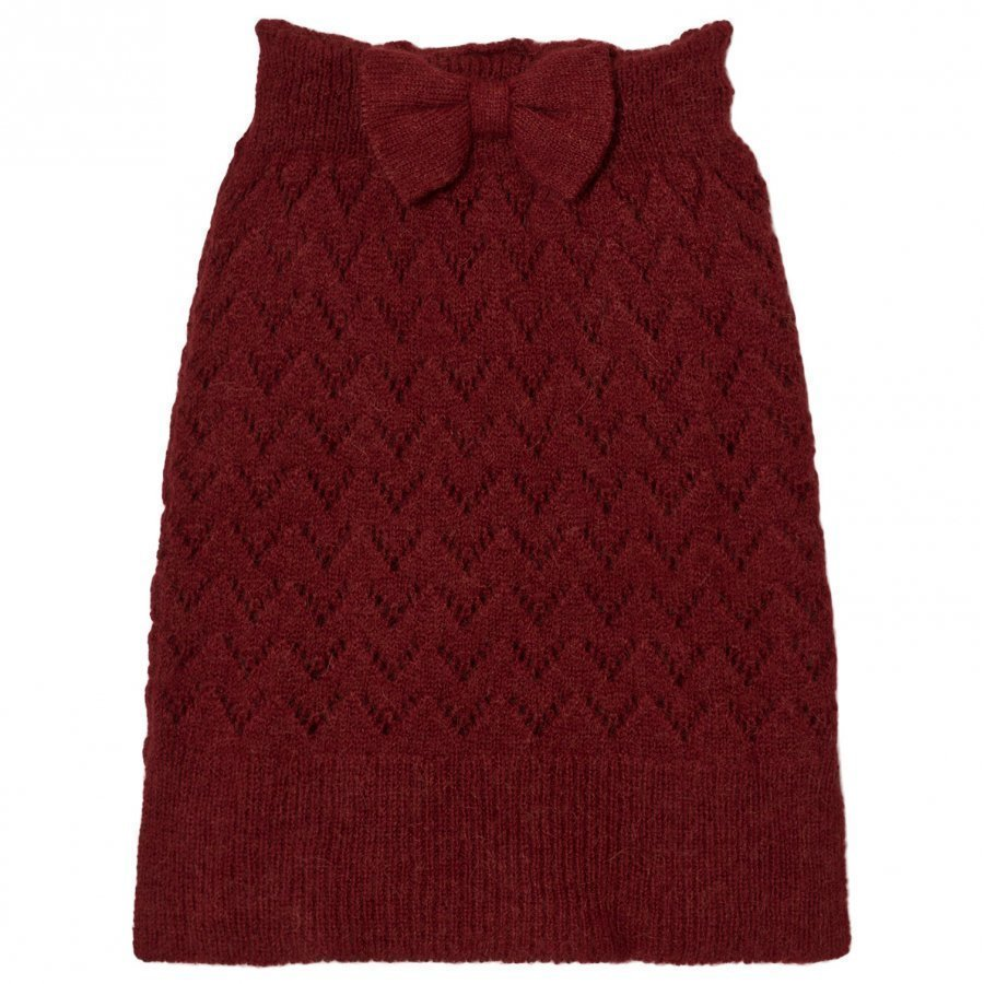 The Animals Observatory Bird Knit Skirt Red Apple Maxihame