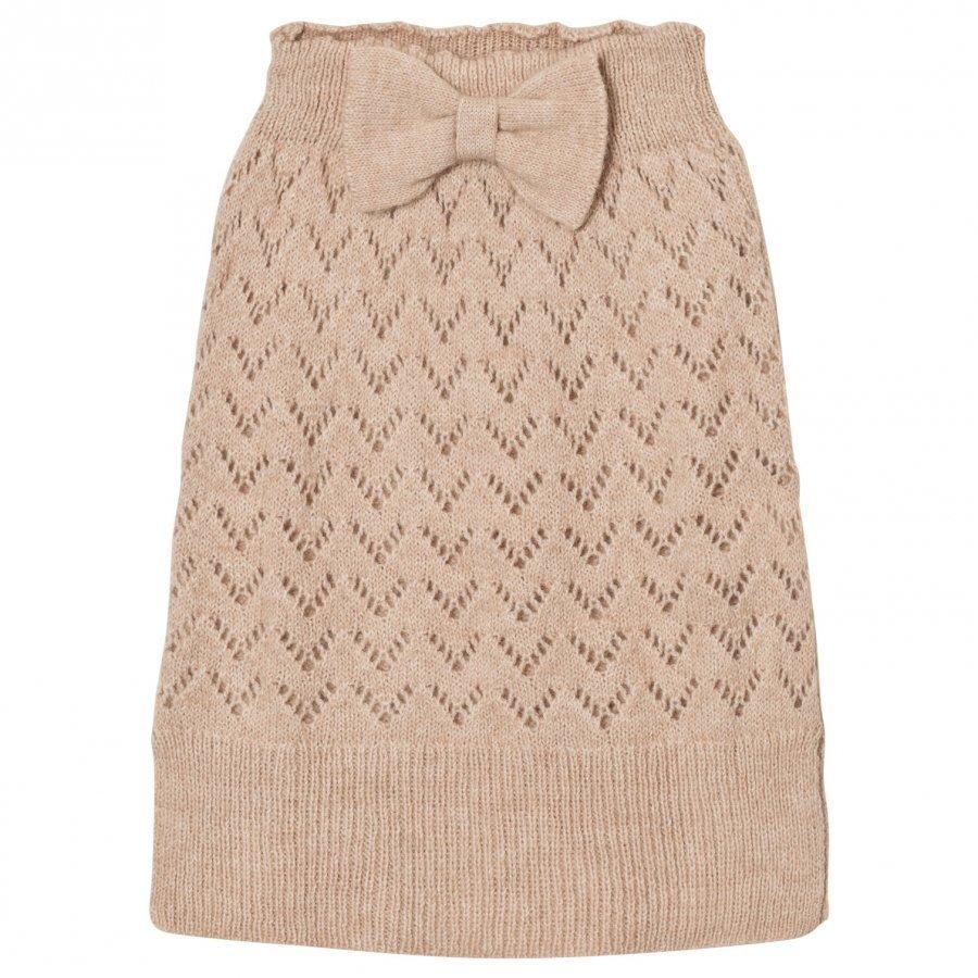 The Animals Observatory Bird Knit Skirt Soft Beige Maxihame