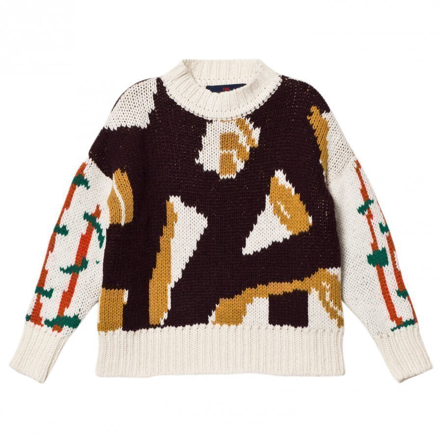 The Animals Observatory Bull Kids Sweater Deep Brown Paita