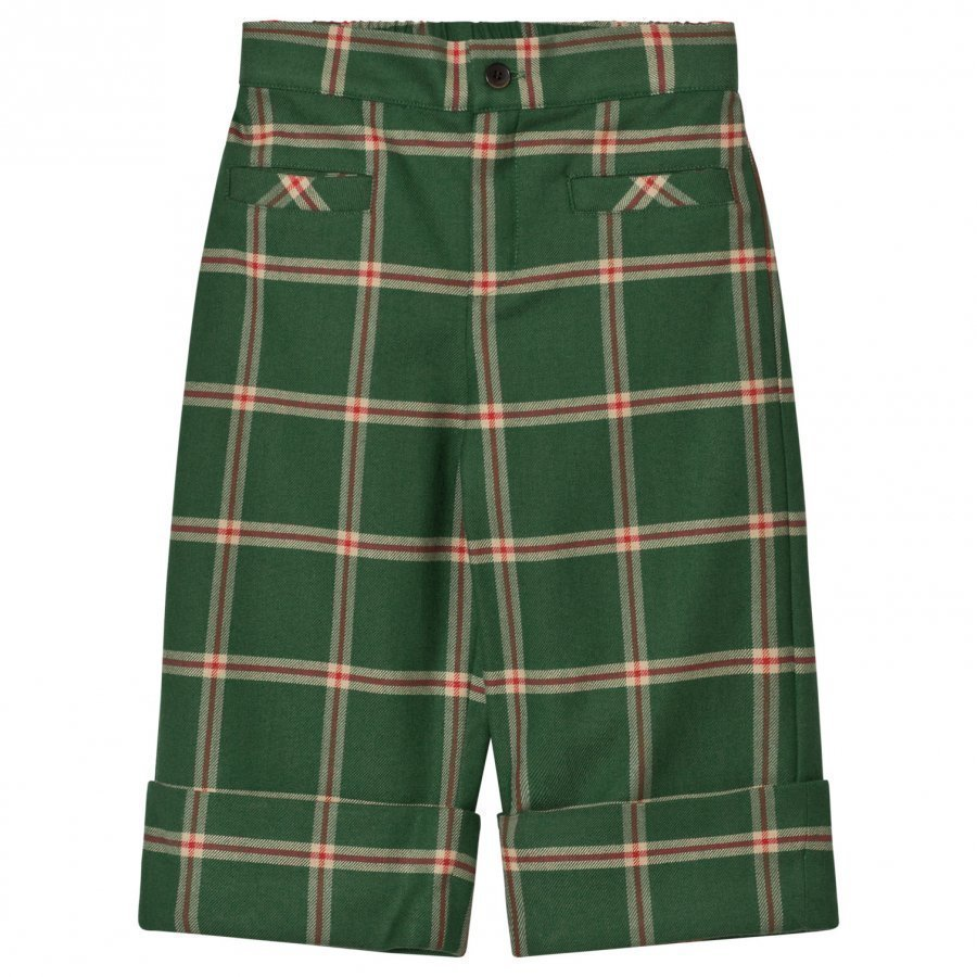 The Animals Observatory Camel Pants Green Squares Housut