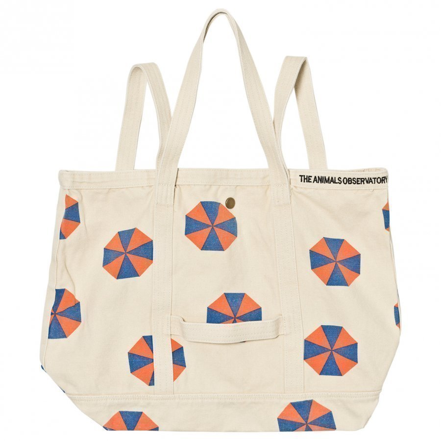 The Animals Observatory Canvas Tote Bag Raw White Umbrellas Kassi