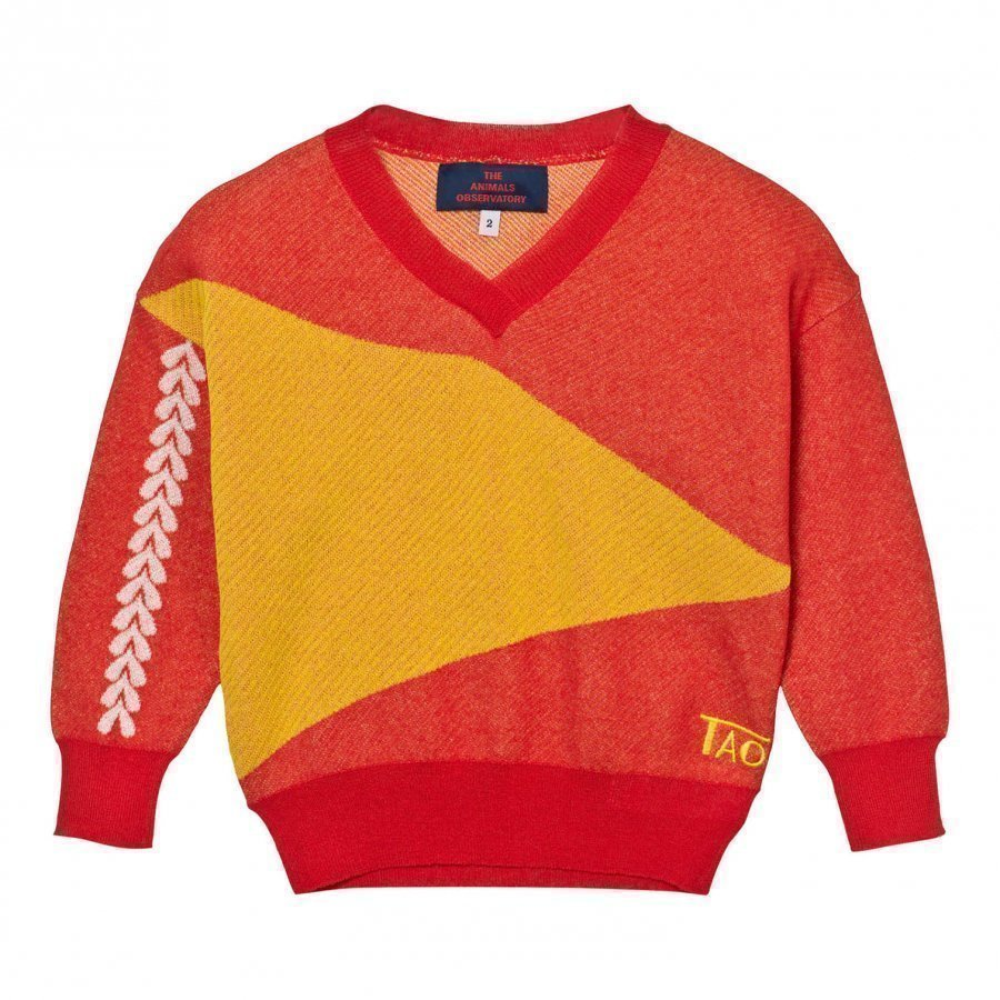 The Animals Observatory Cougar Sweater Deep Red Paita