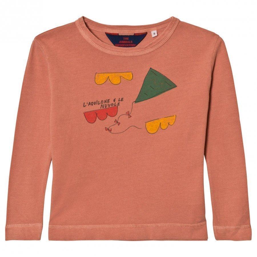 The Animals Observatory Dog T-Shirt Deep Orange Kite Pitkähihainen T-Paita