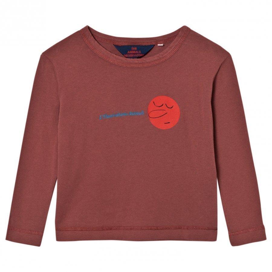 The Animals Observatory Dog T-Shirt Red Garnet Face Pitkähihainen T-Paita