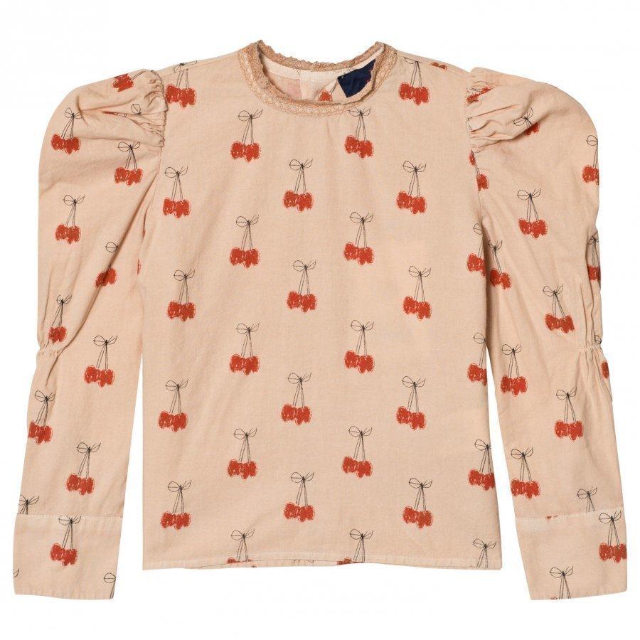 The Animals Observatory Flamingo Shirt Cream Cherries Pusero