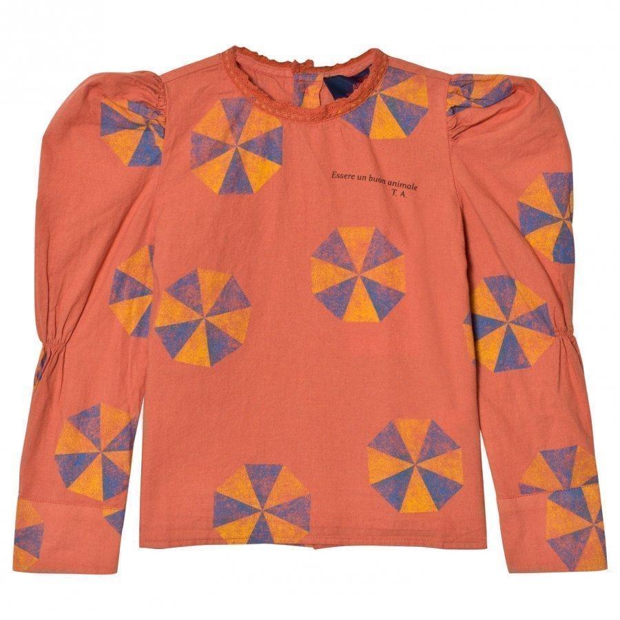 The Animals Observatory Flamingo Shirt Deep Orange Umbrella Pusero