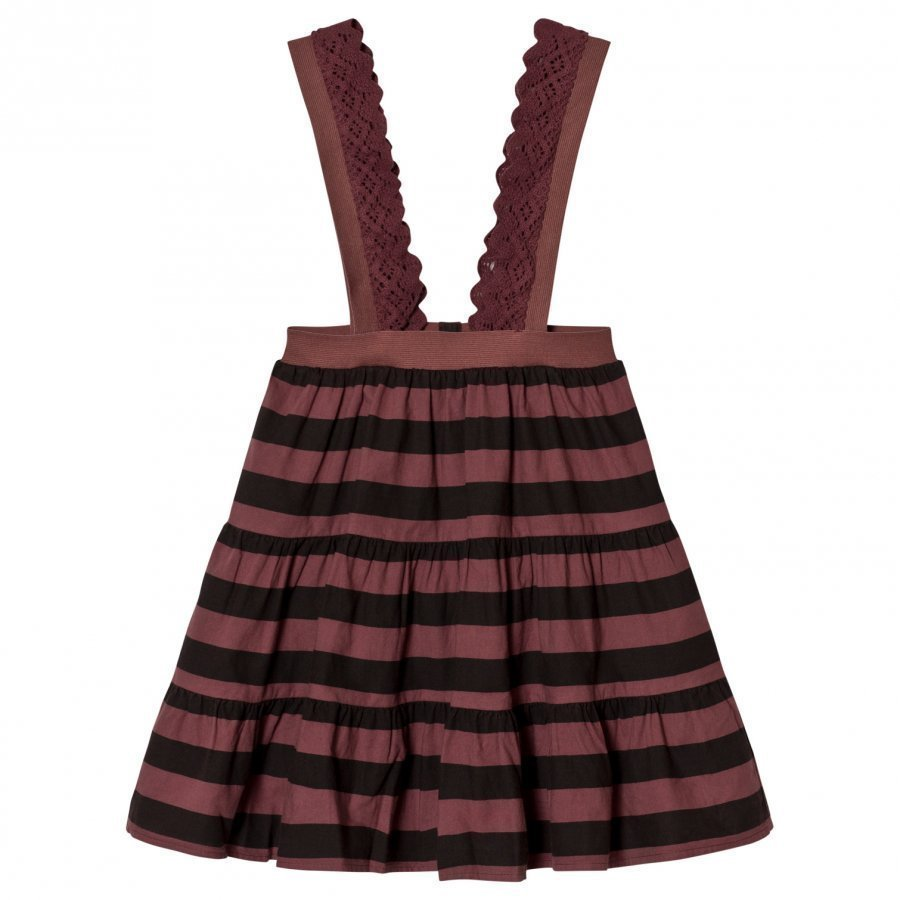 The Animals Observatory Giraffe Skirt Red Garnet Stripes Maxihame