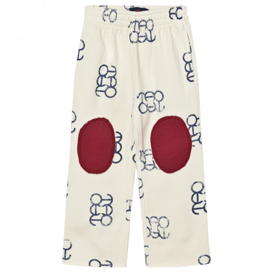 The Animals Observatory Horse Pants White Blue Logo Housut
